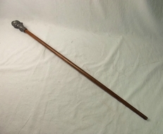 Pre WW2 Nazi German Walking Stick With Bust Of A German Soldier