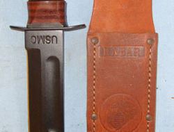 Ka-Bar Knives, Inc formerly the Union Cutlery Co. of Olean, New York 100 Years Anniversary 1898-1998 U.S.M.C Commemorative Fighting Knife & Scabbard  Knives
