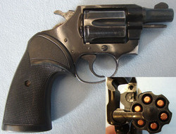 Colt Agent Light Weight .38 Special 'Back Up' Revolver With Packmeyer Grips. .38  Revolver