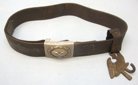 Luftwaffe 'Enlisted' Belt Buckle With Leather Belt and Hanger Luftwaffe 'Enlisted' Belt Buckle With Leather Belt and Hanger Accessories