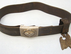 Luftwaffe 'Enlisted' Belt Buckle With Leather Belt and Hanger Luftwaffe 'Enlisted' Belt Buckle With Leather Belt and Hanger