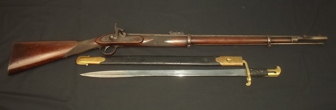 1855 Pattern Lancaster's Percussion Rifle and Bayonet  Rifles