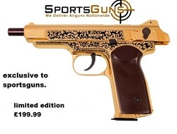 gletcher stechkin gold limited edition .177 bb Air Pistols