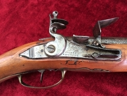 German made Military Flintlock Officer's Pistol by Johanes Kauchen. Ref 7596   Muzzleloader