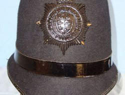 Manchester & Salford Police Male Constable's/ Sergeant's Blue Serge Helmet By Ch Manchester & Salford Police Male Constable's/ Sergeant's Blue Serge Helmet By Ch
