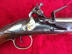 Flintlock holster pistol from the Balkan area with very fine bras...