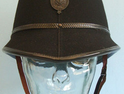 Royal Ulster Constabulary Male Constable's/Sergeant's Custodian Helmet With Blac Royal Ulster Constabulary Male Constable's/Sergeant's Custodian Helmet With Blac