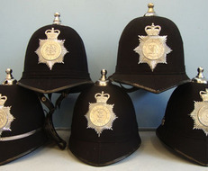 British Police Constable & Sergeant\'s Uniform Helmet with Plate. (price per hel British Police Constable & Sergeant's Uniform Helmet with Plate. (price per helm