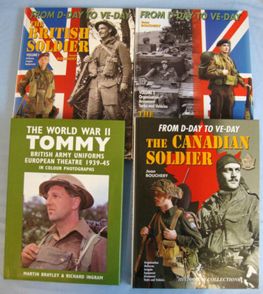Collection Of Four Large hardback Books On The British & Canadian Soldier & Unif Collection Of Four Large hardback Books On The British & Canadian Soldier & Unif Accessories