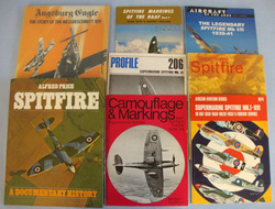 Spitfire & One On The ME 109 books Collection of Eight Books, Sev...