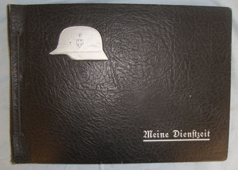 German Panzer Grenadier's 'Meine Dienstzett' (My War) Photograph Album With Orig German Panzer Grenadier's 'Meine Dienstzett' (My War) Photograph Album With Orig Accessories