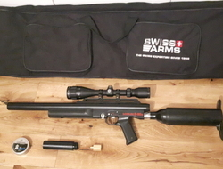 Logun S16s with Hawke Airmax SR6 scope.. 22 Air Rifles