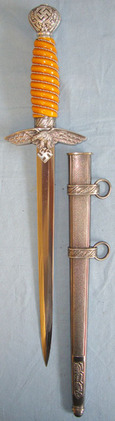 2nd Pattern Luftwaffe Officer's Dagger By Eickhorn Solingen With Scabbard.   Blades