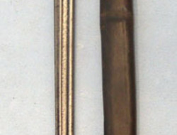 V.C. Schilling, Suhl M1898 Bayonet by Schilling, Regimentally Stamped, Scabbard and Leather Frog. Bayonets