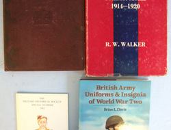 A Collection Of Four Books On British Army Uniforms, Dress Regulations, Coloured A Collection Of Four Books On British Army Uniforms, Dress Regulations, Coloured