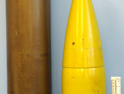 German Naval 15cm APCBC (Armour Piercing Capped Ballistic Capped Base Fused Proj Rare Original WW2 DEACTIVATED INERT Unfired WW2 German Naval 15cm APCBC (Armour