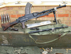 Boxed Bren & Spare Barrel Machine Guns