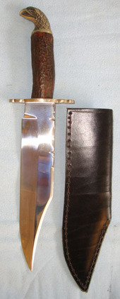 Ron & Roy Middleton Sheffield (Sons Of J.E. Middleton) Large Hand Made Bowie Kni  Blades