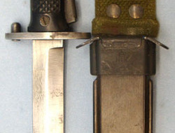 Danish M5 Bayonet, Scabbard and Webbing Intergral Frog. Danish M5...