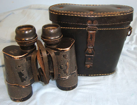 Carl Zeiss, Jena, code blc 7 X 50 Magnification Kriegsmarine Binoculars By blc Carl Zeiss, Jena & 1942 / 19 Accessories