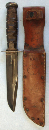 U.S. Navy MK I Utility Knife and Scabbard.  Blades