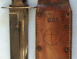 U.S. Navy MK I Utility Knife and Scabbard.  Knives