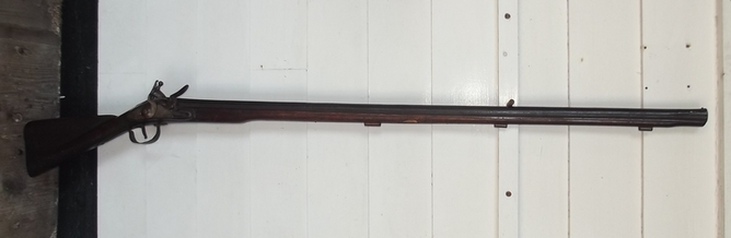 Very Rare Circa 1765 Canada Export Brown Bess Musket Full Gauge  Rifles