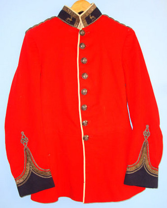 Royal Warwickshire Regiment Volunteer Battalion 2nd Lieutenant's Red Dress Tunic Pre WW1 1902-1910 Royal Warwickshire Regiment Volunteer Battalion 2nd Lieutenant Accessories