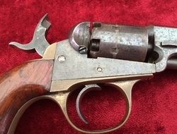 American Civil War Era Cooper's pat. 6 shot Percussion revolver. ...