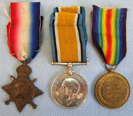 Medal Trio Consisting of 1914-15 Star, War and Victory Medals with Ribbons all t WW1 British Army Royal Field Artillery Medal Trio Consisting of 1914-15 Star, Wa Accessories