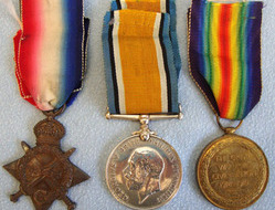 Medal Trio Consisting of 1914-15 Star, War and Victory Medals with Ribbons all t WW1 British Army Royal Field Artillery Medal Trio Consisting of 1914-15 Star, Wa