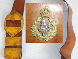 Worcestershire Imperial Yeomanry Leather Cross Belt & Pouch With King's Crown Ye Worcestershire Imperial Yeomanry Leather Cross Belt & Pouch With King's Crown Ye