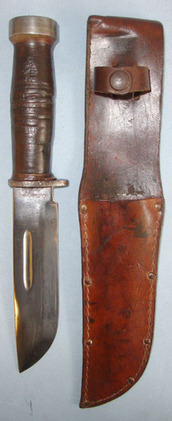 Cattaraugus 225Q ' Quartermasters' U.S. Fighting Knife And Sheath.  Blades