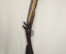 Late 18th / Early 19th Century Blunderbuss With Spring Loaded Bayonet  Muzzleloader   Rifles