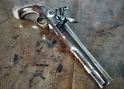 Flintlock livery pistol by Richards Livery pistol .6  Muzzleloader