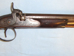 "John Crosby Brown, Hull English .60"" Bore Percussion Pistol (Converted From Flintlock) By John Crosby Br .60"