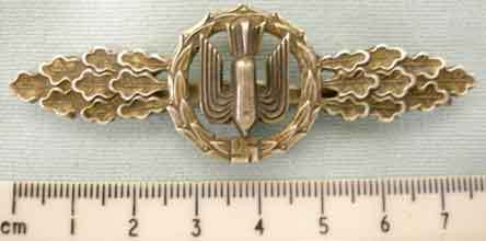 Luftwaffe Heavy / Medium & Dive Bombers Squadron Clasp in GOLD. N 38 - N 38 Luftwaffe Heavy / Medium & Dive Bombers Squadron Clasp in GOLD.  Accessories
