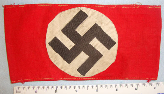 NSDAP (National Socialist German Workers Party) 3 Piece Construction Arm Band .  NSDAP (National Socialist German Workers Party) 3 Piece Construction Arm Band .  Accessories