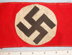 NSDAP (National Socialist German Workers Party) 3 Piece Construction Arm Band .  NSDAP (National Socialist German Workers Party) 3 Piece Construction Arm Band .