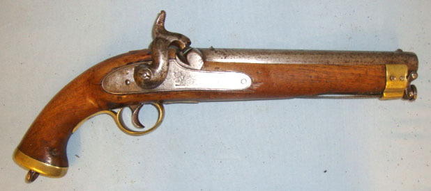 "'N7 Leigh' (indicating manufacture after the British Government took over the EI 1843 Pattern East India Company .650"" Carbine Calibre Smooth Bore Percussion Cav Pistol / Hand Guns"