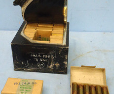 INERT DEACTIVATED. British Military Original Tin Plate Outer Box of 15 Service P INERT DEACTIVATED. British Military Original Tin Plate Outer Box of 15 Service P