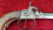 English Percussion pistol with nickel silver frame, by Van-Wart of London. Ref 9090 .45  Muzzleloader