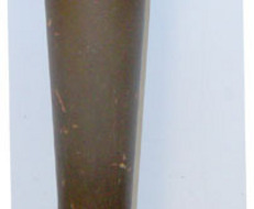 William IV Painted Ebonised Painted Wood Police Tip Staff /Truncheon & Wrist Str Police Tip Staff /Truncheon & Wrist Strap.