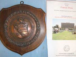 Wilmslow District Memorial Shield With Copper Centre Boss To Brit...