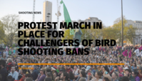 Protest march in place for challengers of bird shooting bans